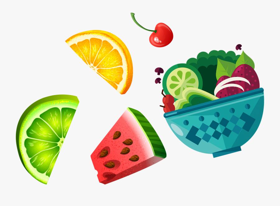 Transparent Salad Clip Art - Fruit Salad Clip Art , Free ...