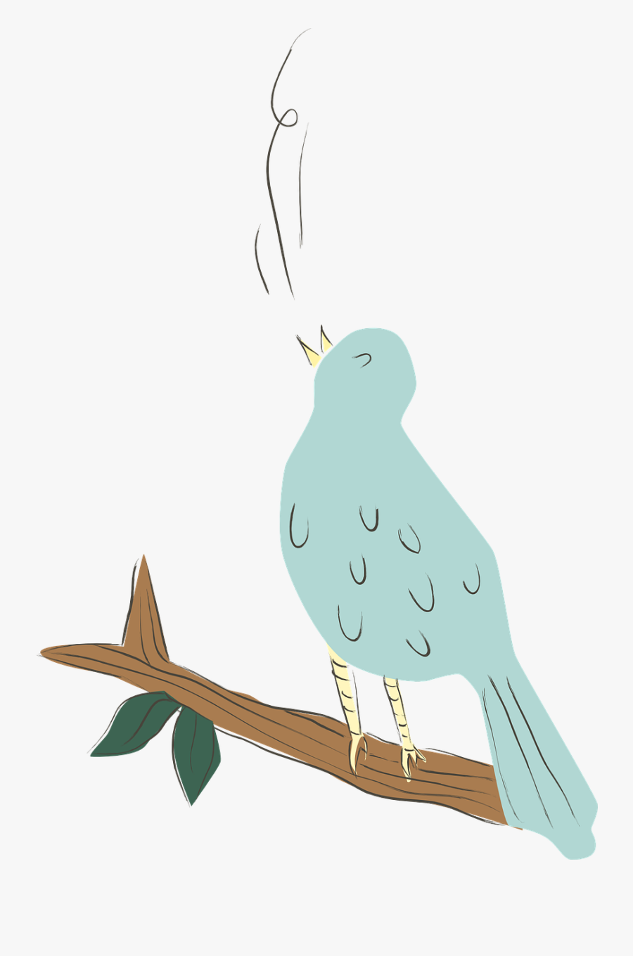 Bird Blue Singing Free Picture - Singing Bird Transparent Png, Transparent Clipart