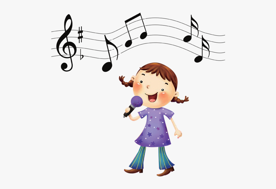 Clip Art Library Download Scale The Little Transprent - Girl Singing Clipart, Transparent Clipart
