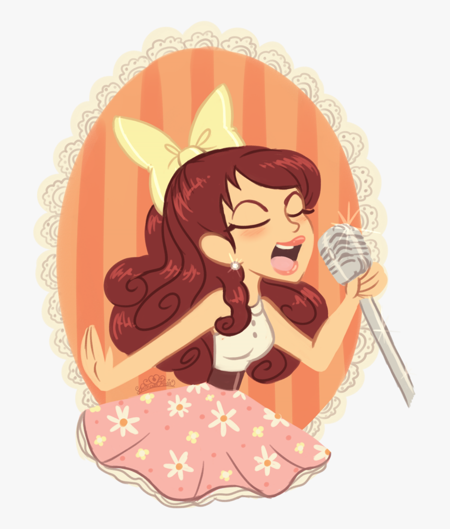 Sing Clipart Famous Singer - Cartoon Ariana Grande Singing, Transparent Clipart