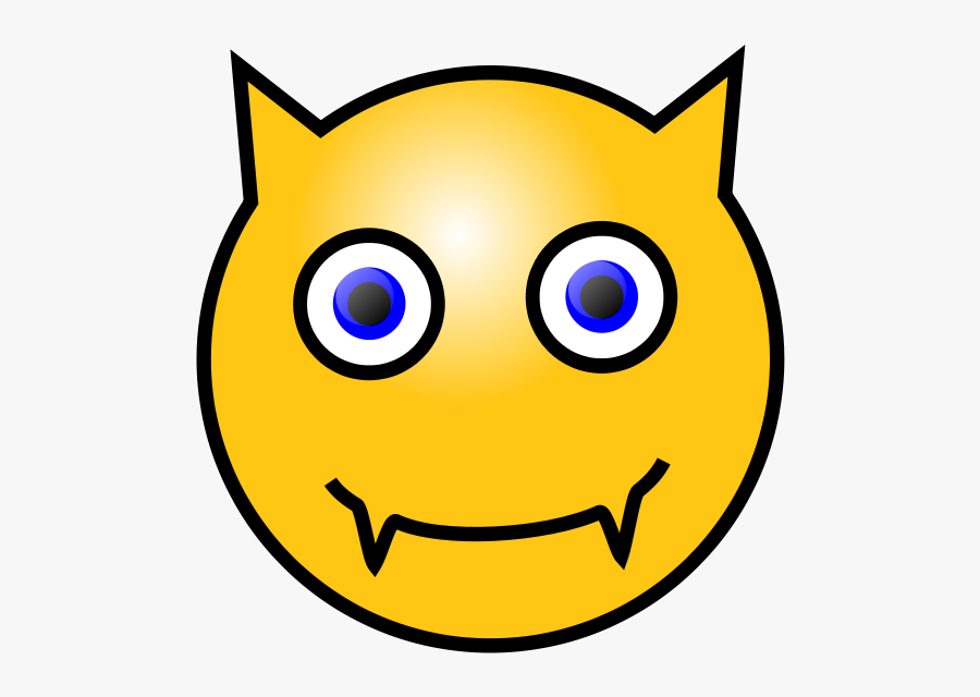 Devil Smiley Face Clipart , Png Download - Yellow Smiley Face Devil, Transparent Clipart