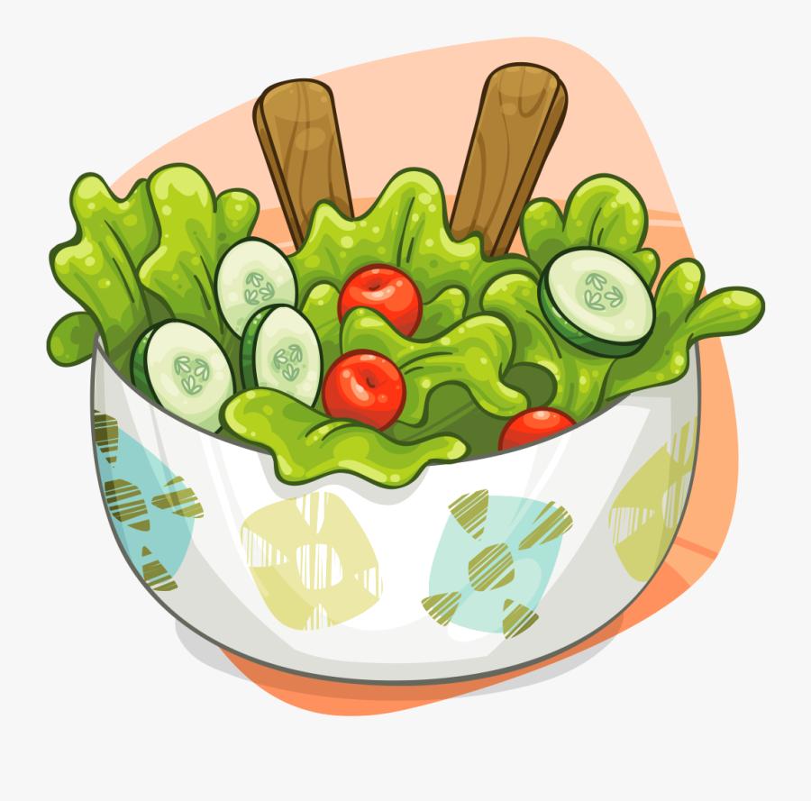 Transparent Background Salad Bowl Salad Clipart, Transparent Clipart