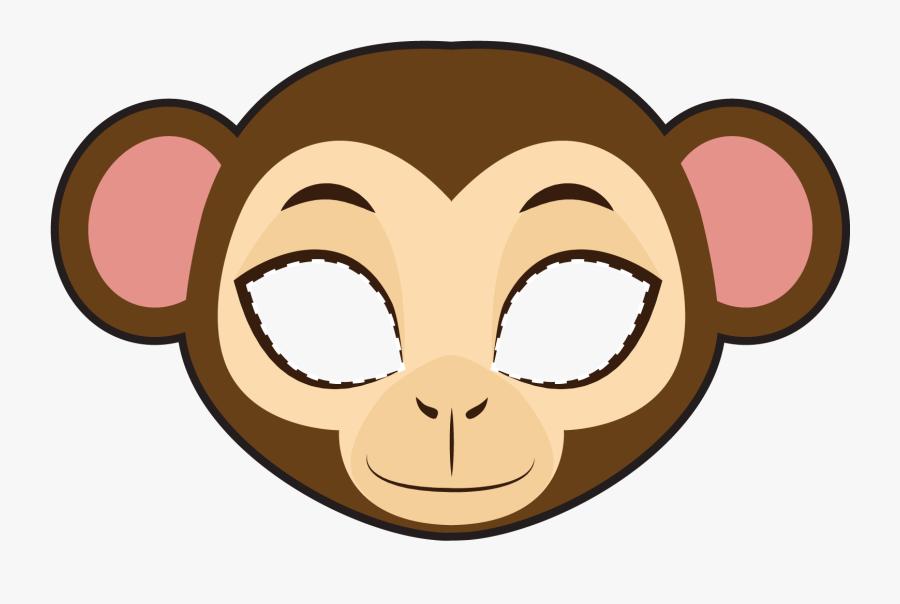 Transparent Monkey Clip Art - Mascara De Un Mico, Transparent Clipart