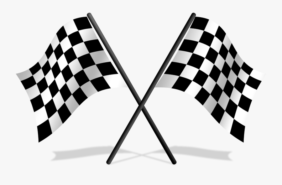 Pinewood Derby Soap Box Derby Car Auto Racing Clip - Transparent Checkered Flag Png, Transparent Clipart