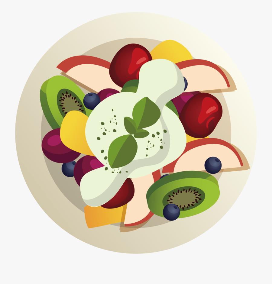 Indian Cuisine Vegetarian Cuisine Veganism Food - Cartoon Fruit Salad Png, Transparent Clipart