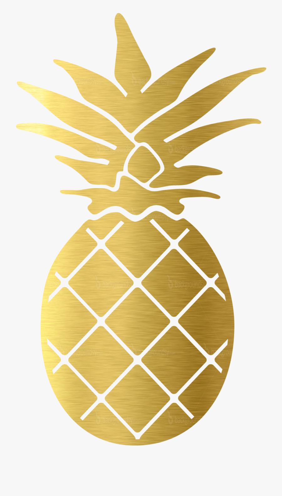 Clip Art Pineapple Gold - Gold Pineapple Clip Art, Transparent Clipart