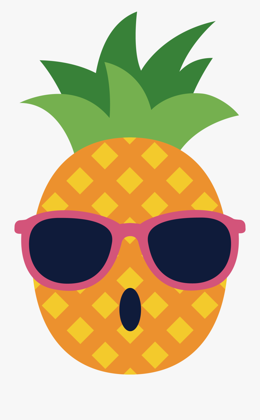 Pineapple Spectacles Glasses - Draw A Pineapple With Sunglasses, Transparent Clipart