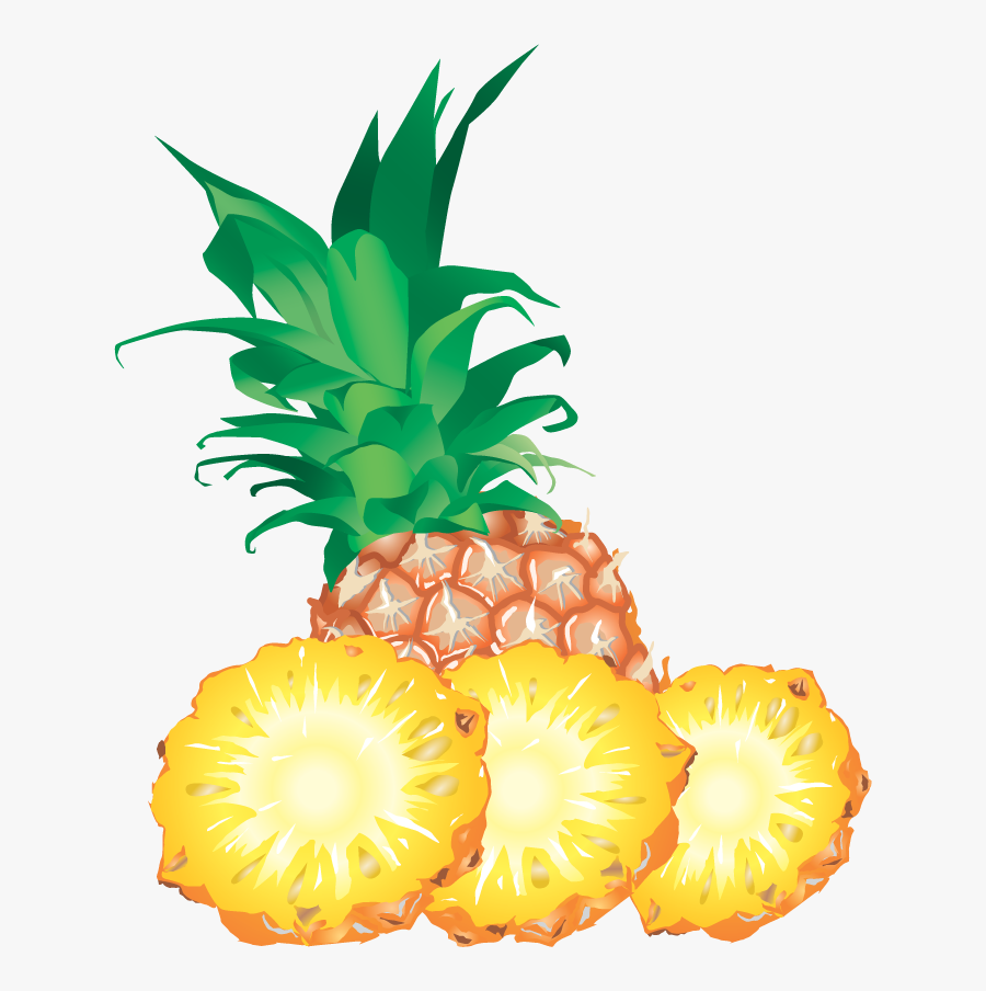 Pineapple With Slice Clipart, Transparent Clipart