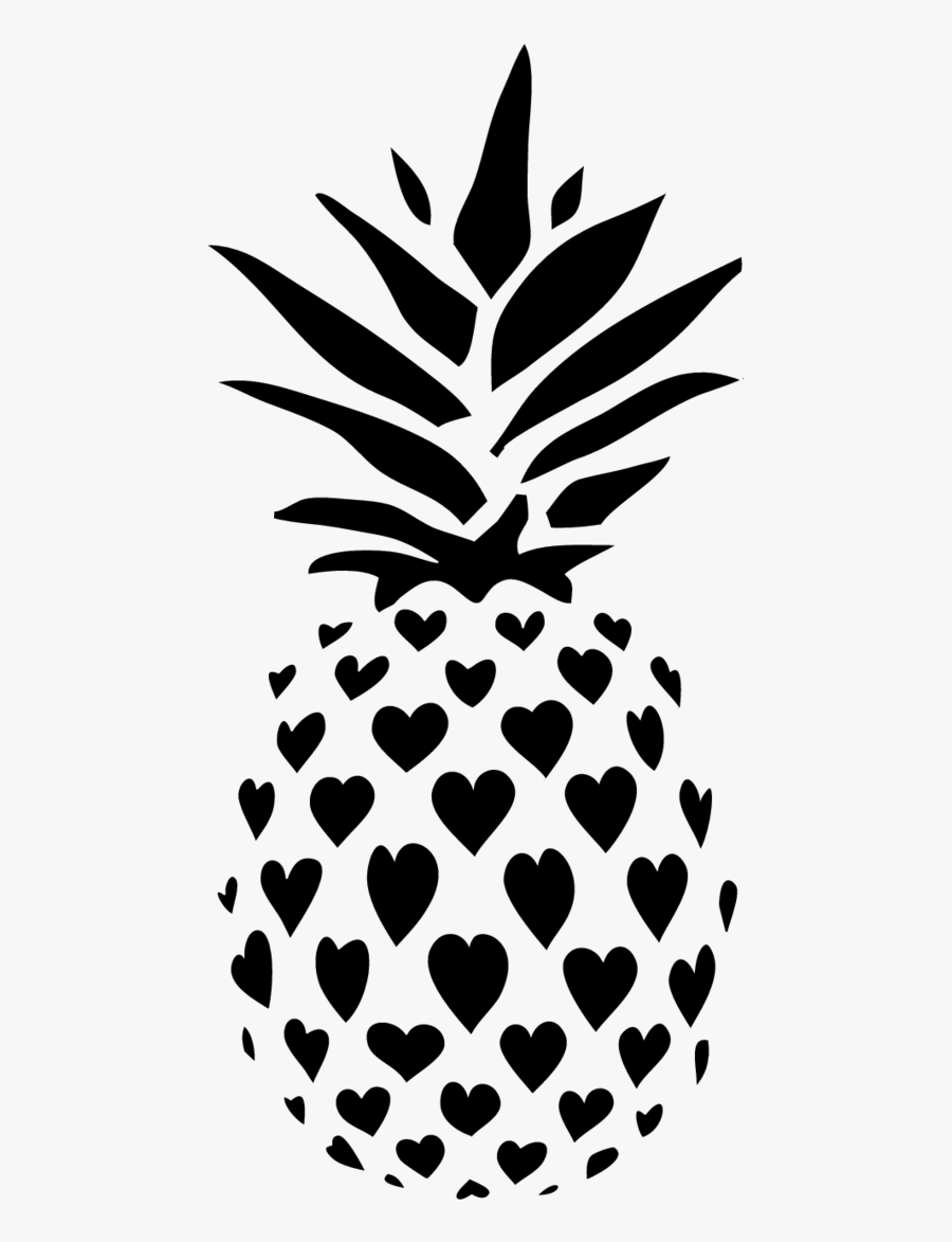 Pineapple Black And White Clipart Cool - Pineapple Pumpkin ...  Cute Pineapple Stencil