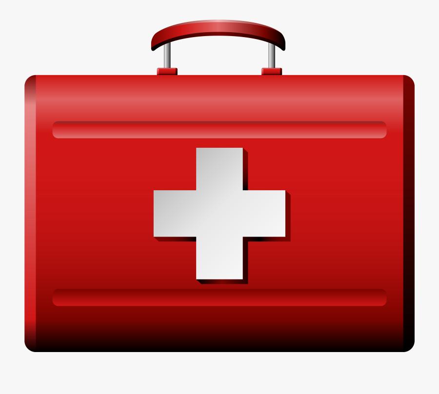 Medical Bag Png Clipart - Red Cross Box Png, Transparent Clipart