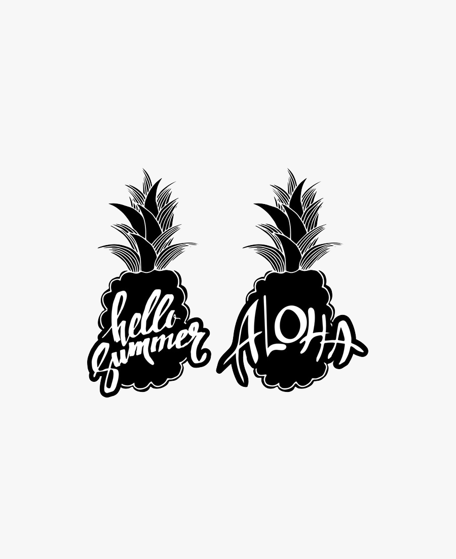 Svg Freeuse Download Pinapple Vector Silhouette - Preto Branco Abacaxi Png, Transparent Clipart