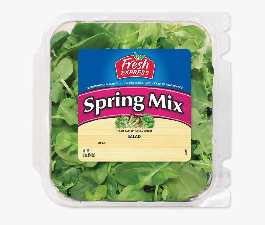 Lettuce Clipart Baby Spinach - Fresh Express Salad, Transparent Clipart