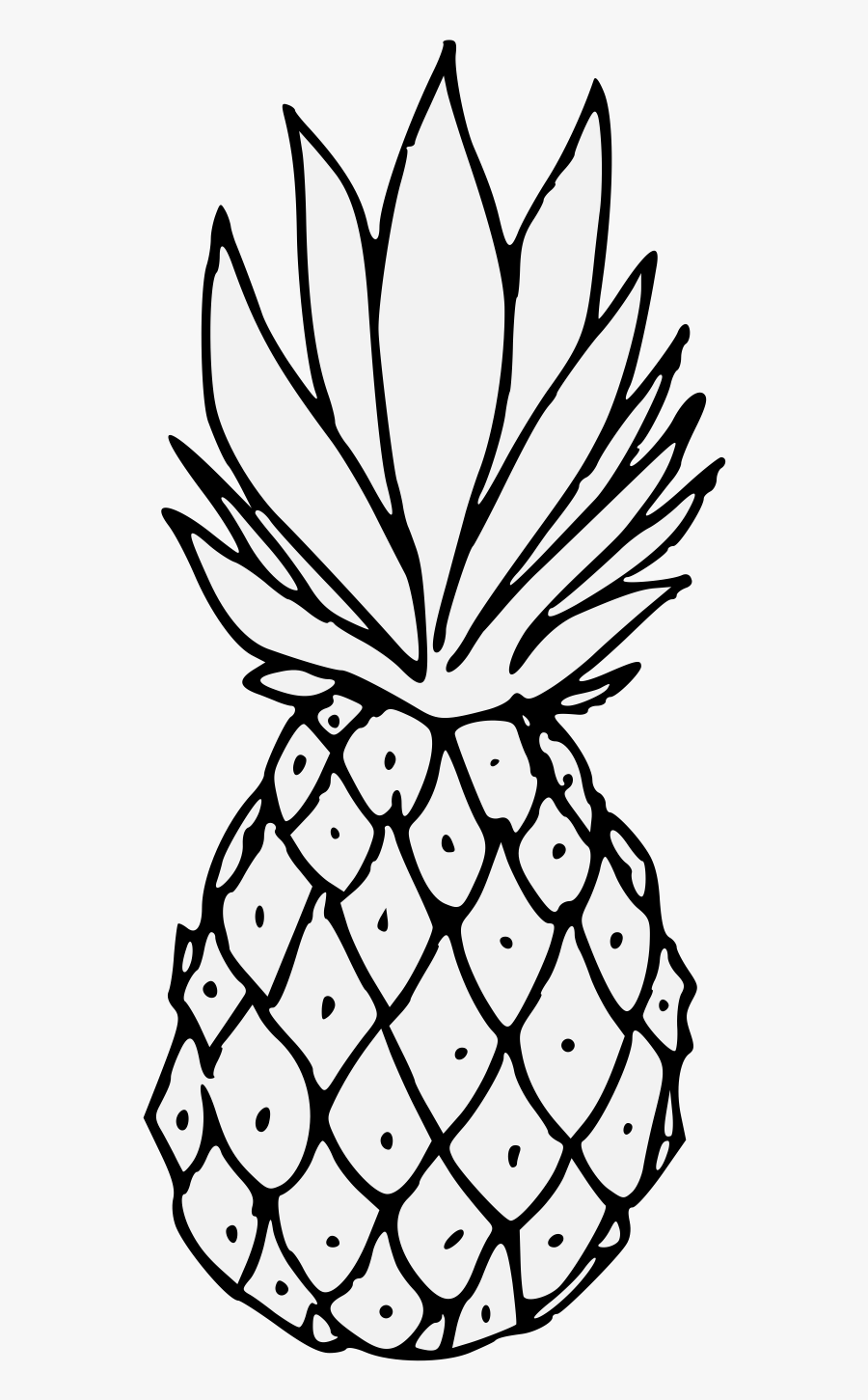 Pineapple Png Black And White, Transparent Clipart
