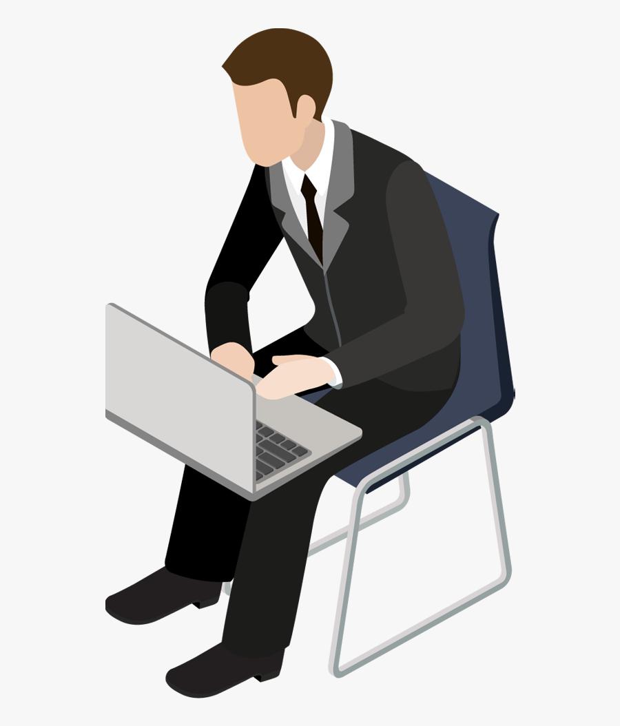 Clip Art - Young Business Man Clipart, Transparent Clipart
