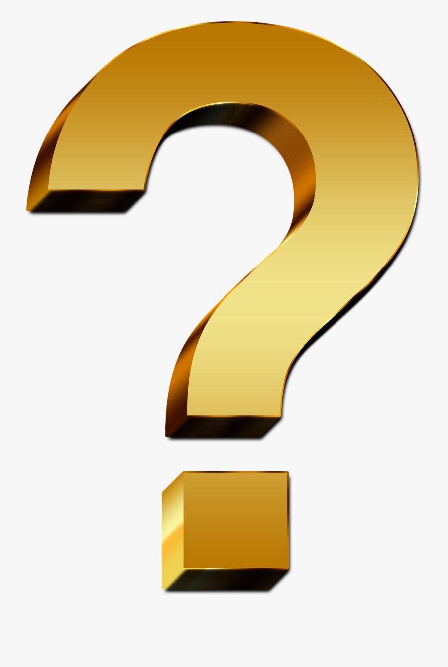 Living Clipart Question Mark - Golden Question Mark Png, Transparent Clipart