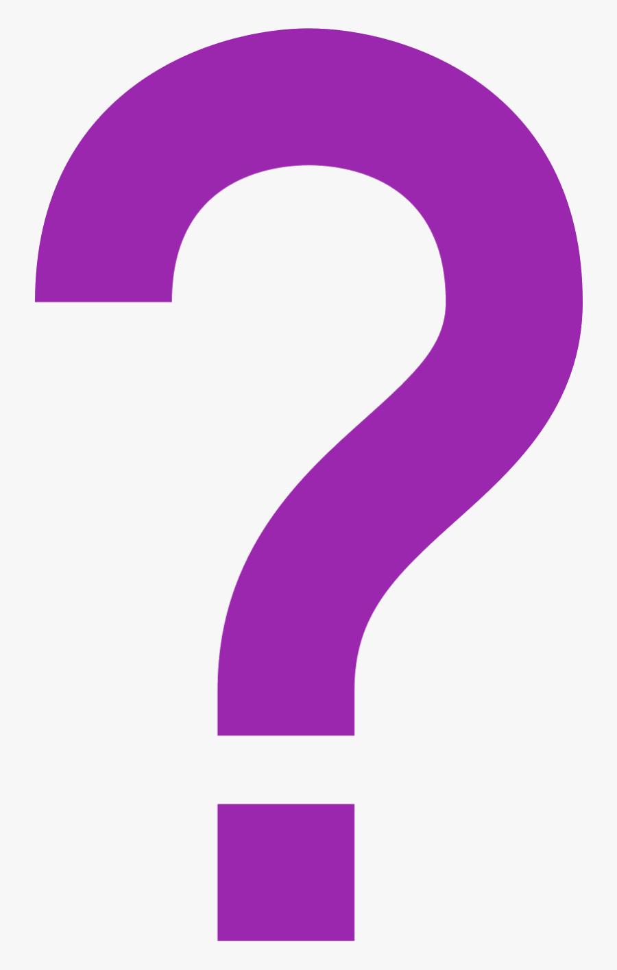 Transparent Computer Confusion Clipart - Purple Question Mark, Transparent Clipart