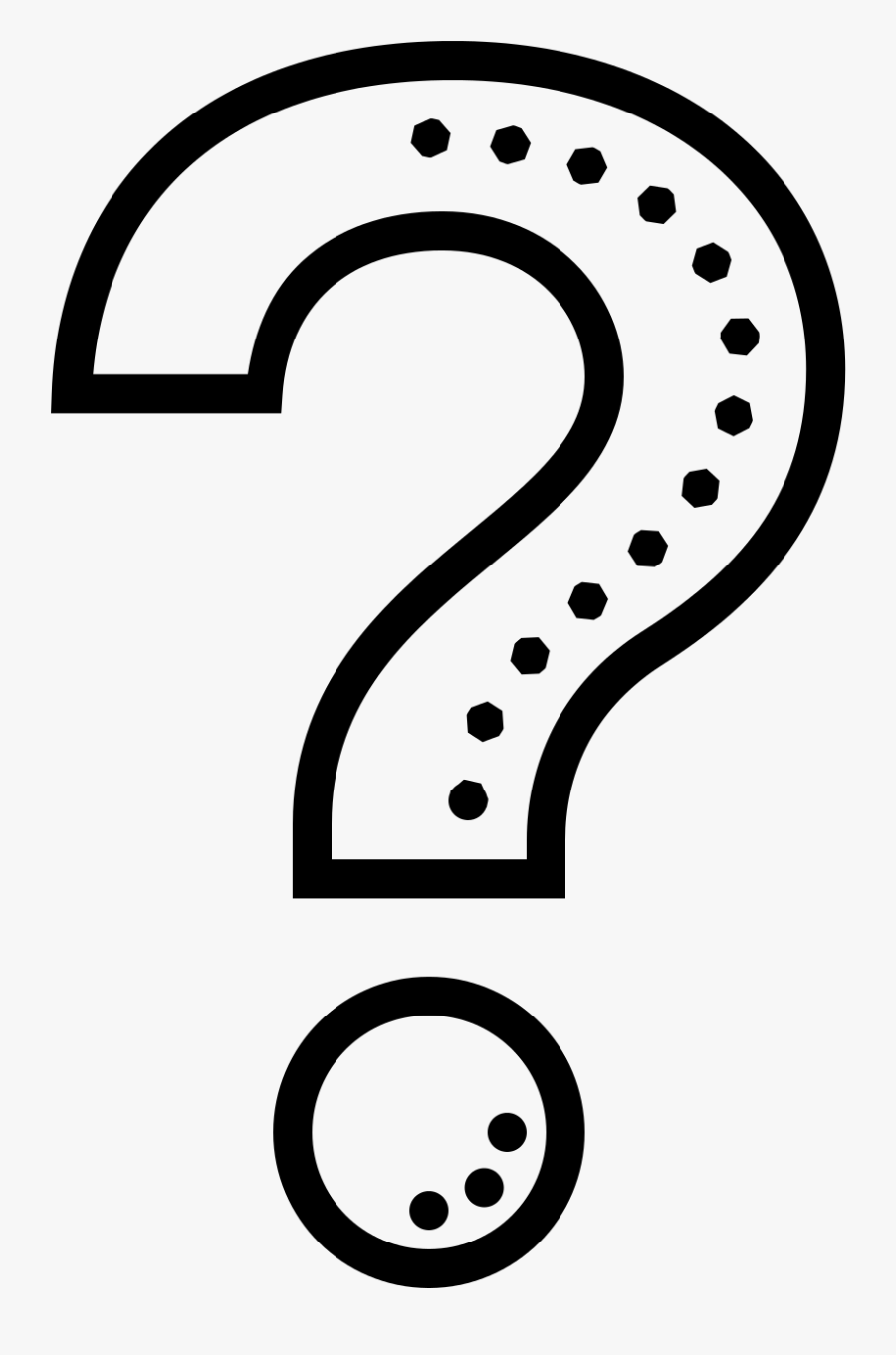 Cute Question Mark Png Download - Black And White Png Question Mark, Transparent Clipart