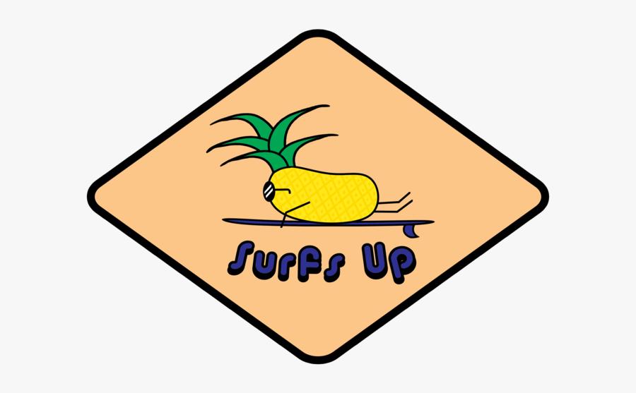 Surfing Pineapple Logo Surfing Pineapple Illustrator - Pineapple, Transparent Clipart