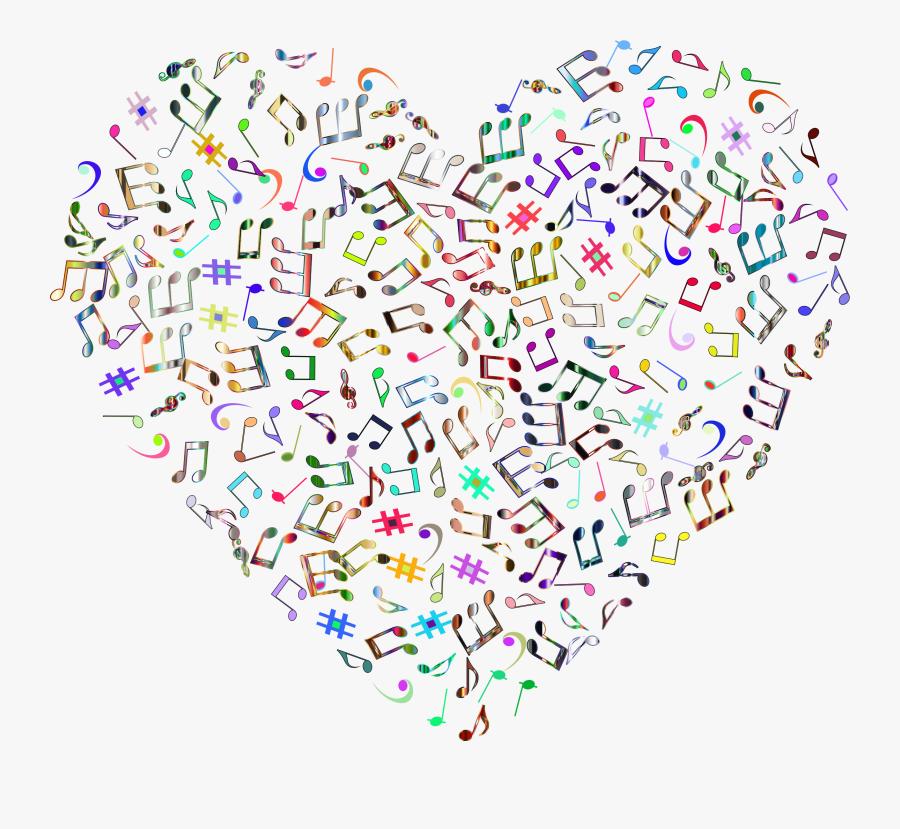 Transparent Music Note Clip Art Png - Music Note Heart Svg, Transparent Clipart