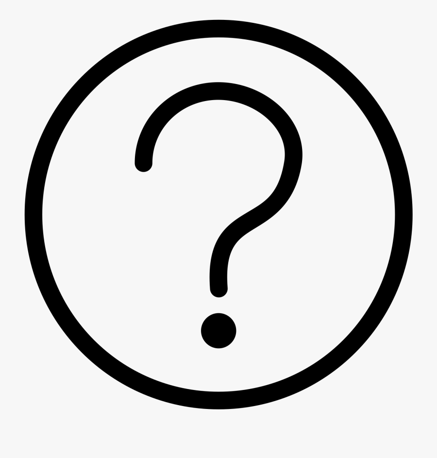 Clip Art Question Mark Icon - Ico, Transparent Clipart