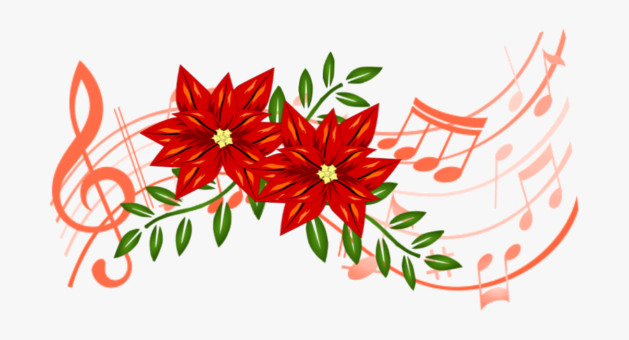 Christmas Flower And Music Offering Form - Colorful Music Notes Png, Transparent Clipart