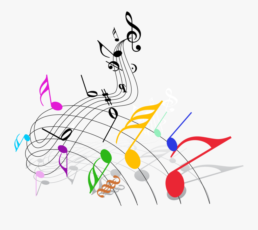 Colorful Music Notes Clip Art