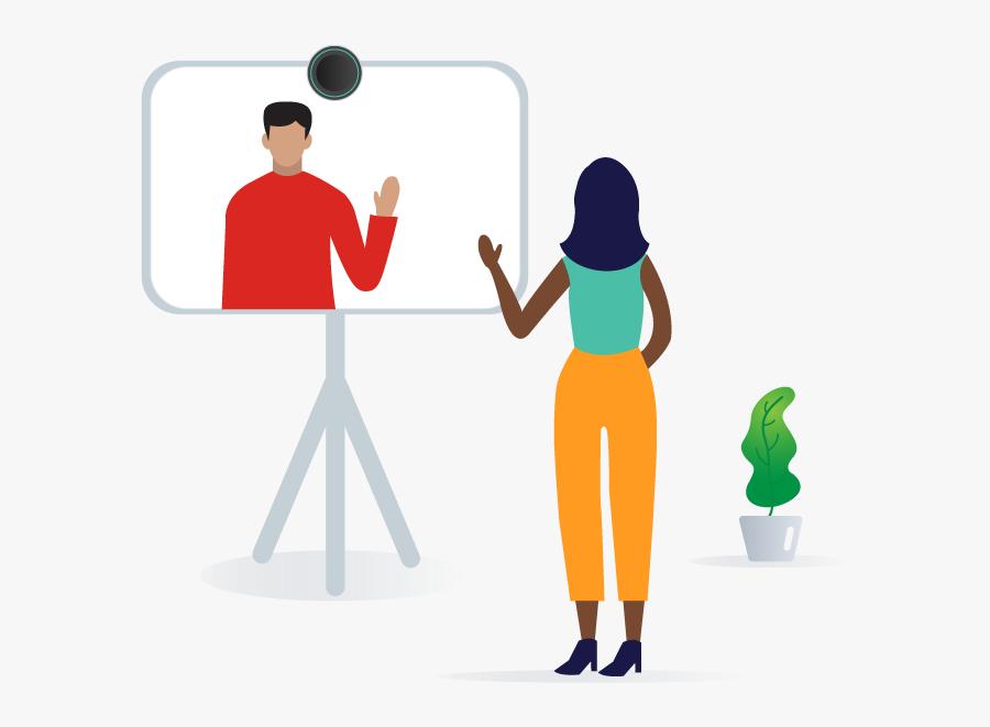 Transparent Video Conferencing Clipart - Illustration, Transparent Clipart