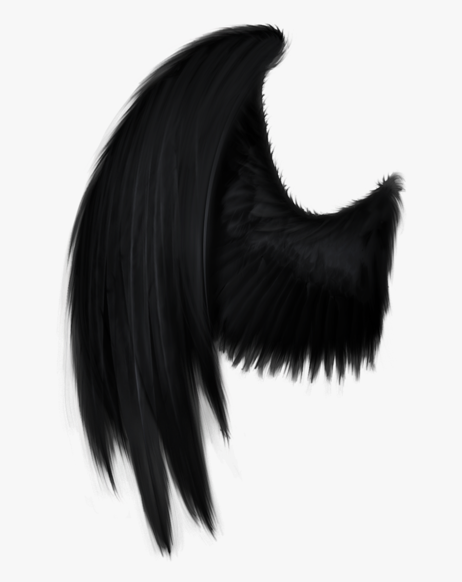 Black Angel Wing Png By Starscoldnight On Clipart Library - Dark Angel Wings Png, Transparent Clipart