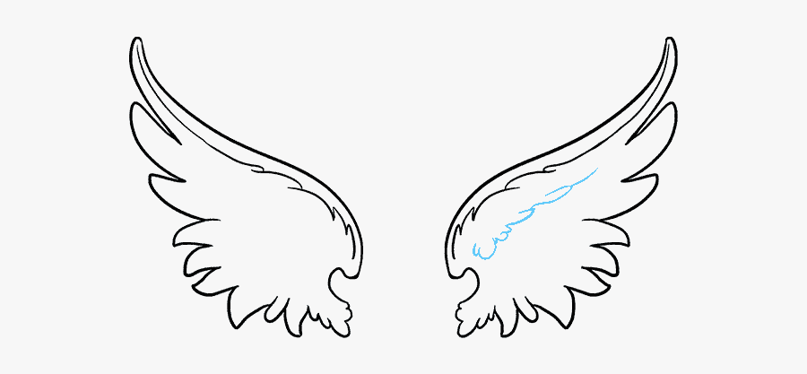 How To Draw Angel - Angel Wing Simple Drawing, Transparent Clipart