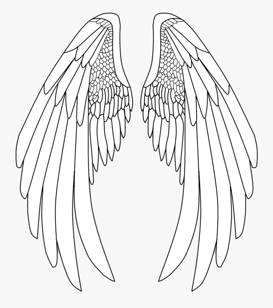 Angel Wings Png - Drawing Pencil Angel Wings, Transparent Clipart