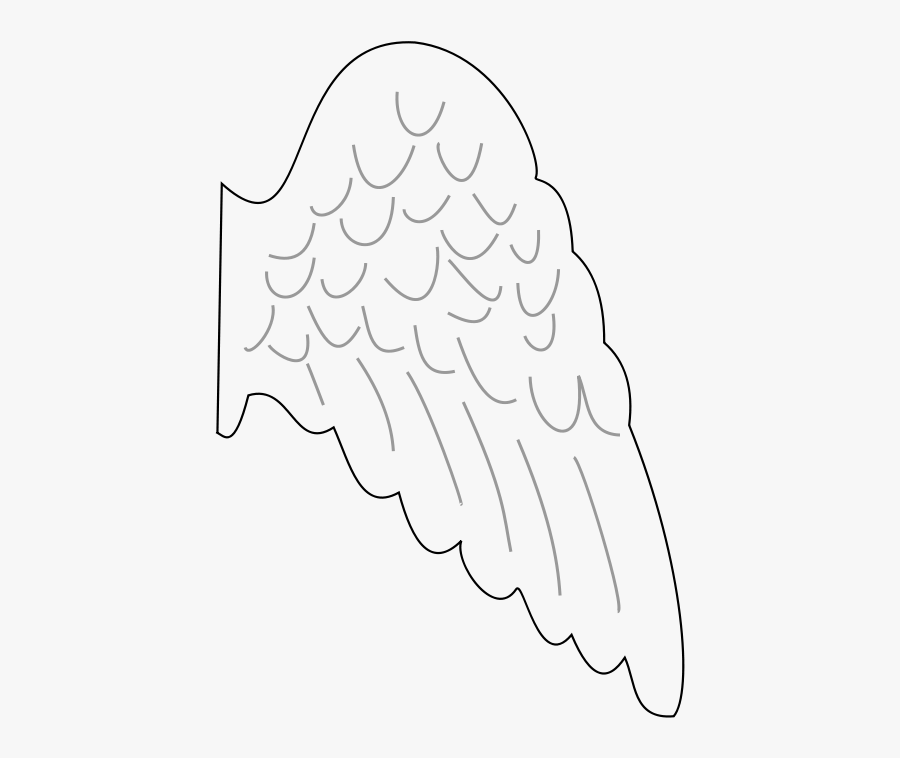 Free Clipart - Angel& - Angel Wing Template Printable Free, Transparent Clipart
