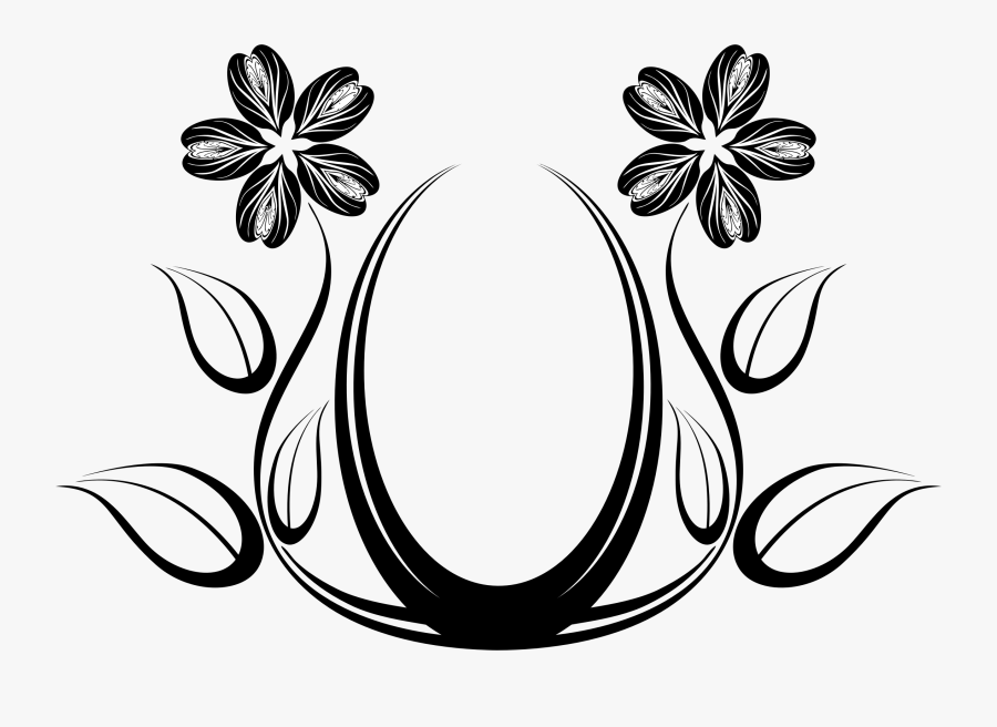 Drawing Abstract Flower Huge Freebie Download For Powerpoint - Line Art Flower Designs, Transparent Clipart