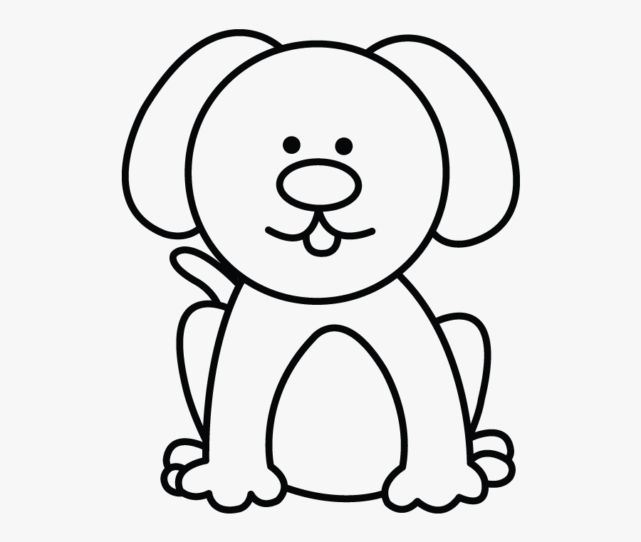 Easy Clipart Dog - Easy Simple Dog Drawing , Free ...