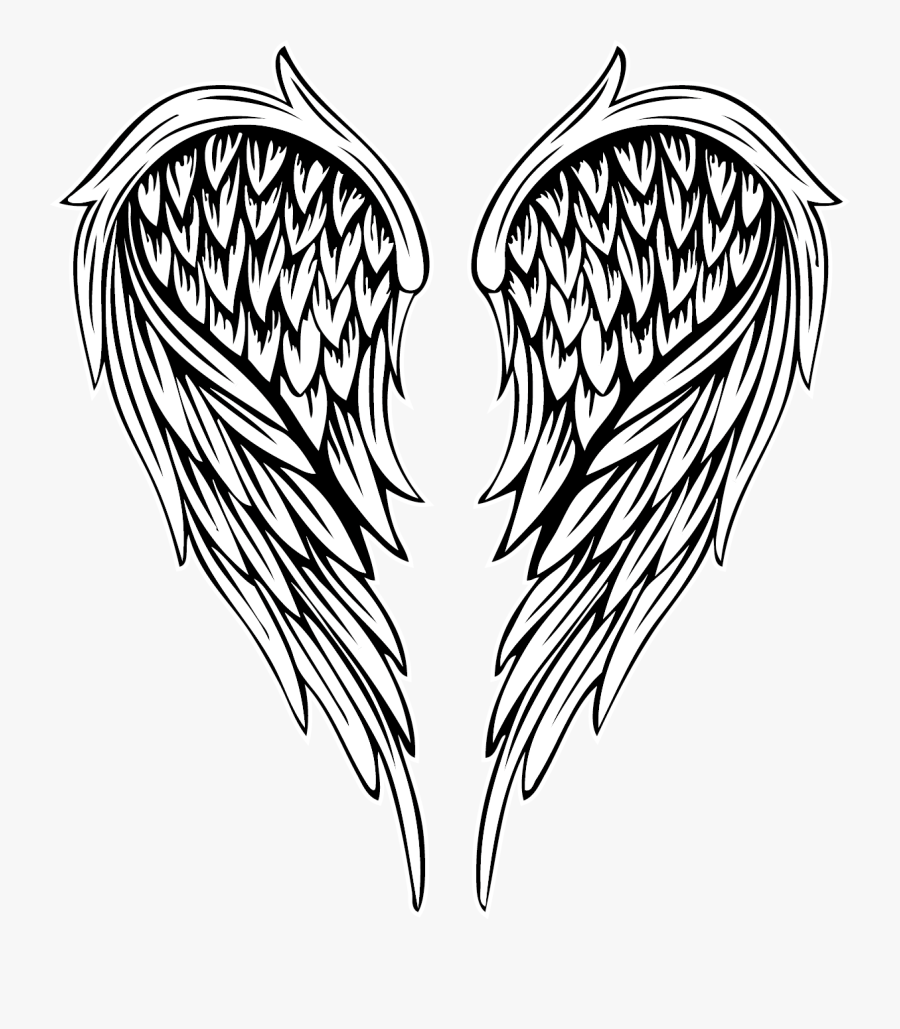 Angel Angelwings Wings Wing Tattoos Tattoo Angel Wings Tattoo Png Free Transparent Clipart Clipartkey