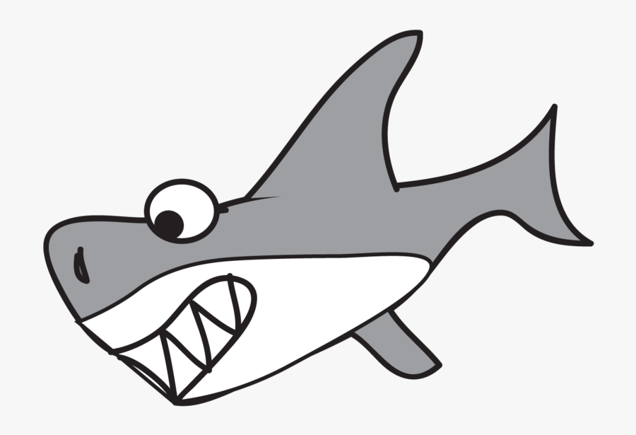 Shark Drawing Clip Art For Kids Clipart Pictures Free - Cute Shark Png Cartoon, Transparent Clipart