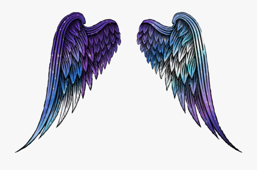 #wings #angel #angelwings #space #galaxy #stars #star - Illustration, Transparent Clipart