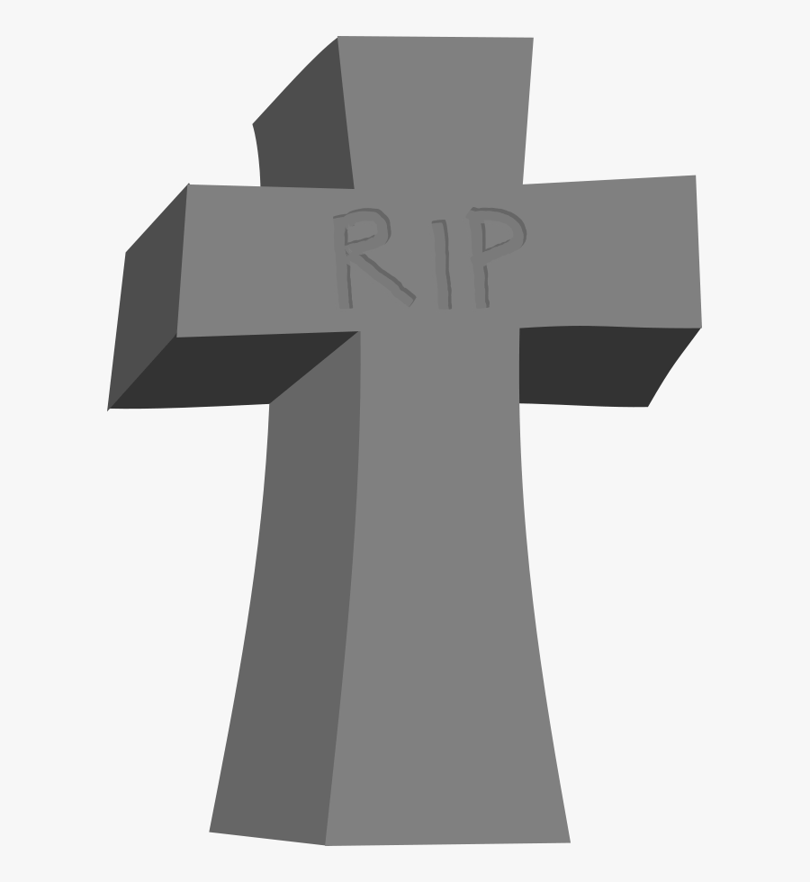Tombstone - Tombstone With Cross Clipart, Transparent Clipart