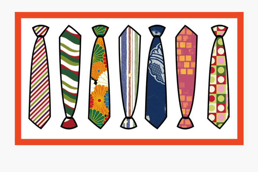 Father's Day Ugly Ties, Transparent Clipart