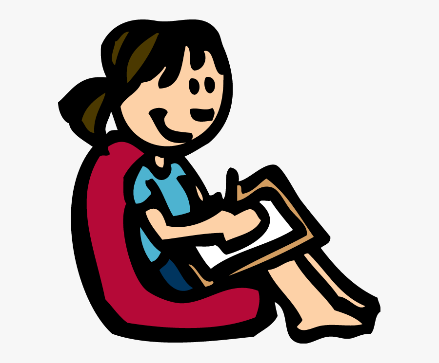 Girl Drawing Clip Art, Transparent Clipart