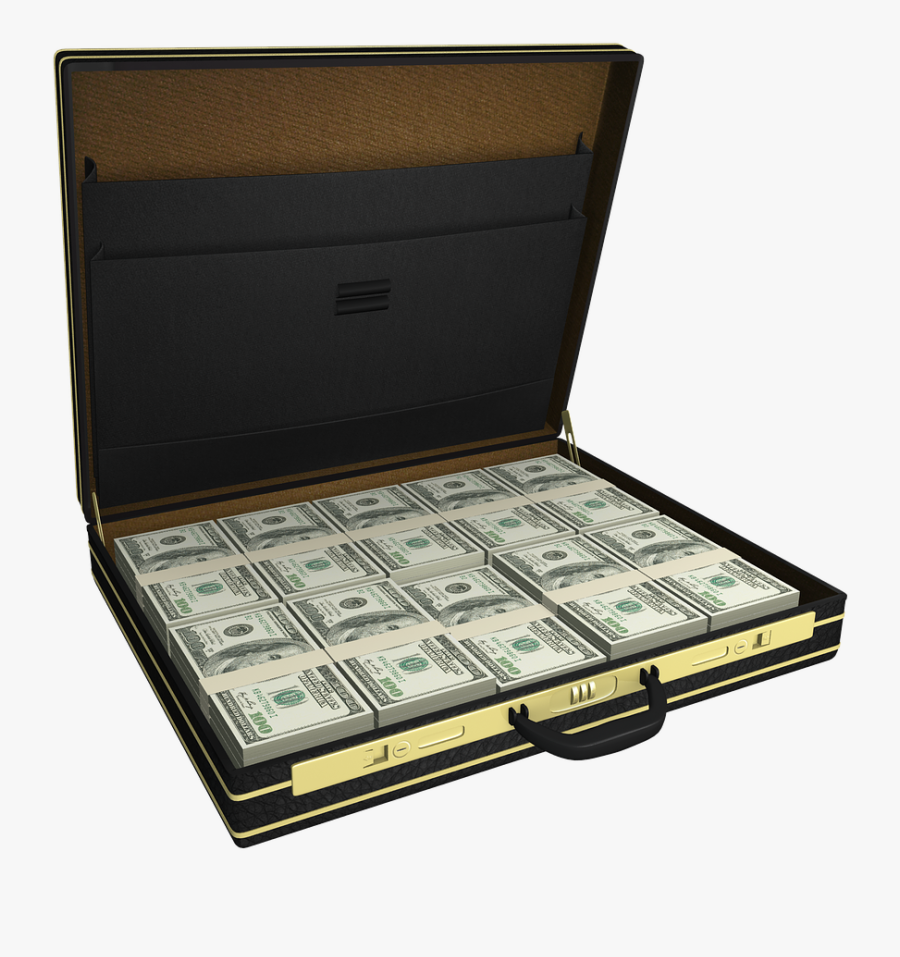 Transparent Hundred Dollar Bill Png - Suitcase With Money Png, Transparent Clipart