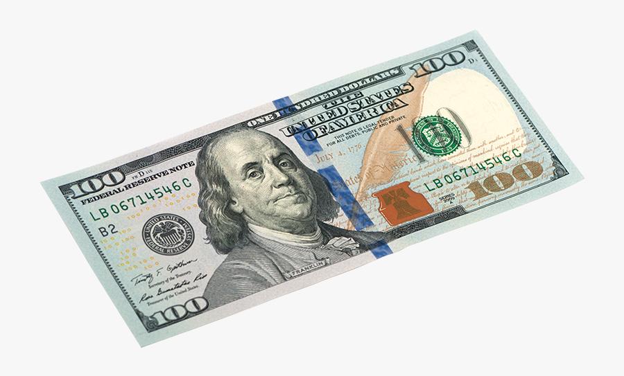 United States One Hundred Dollar Bill United States - 100 Dollar Bill Transparent, Transparent Clipart