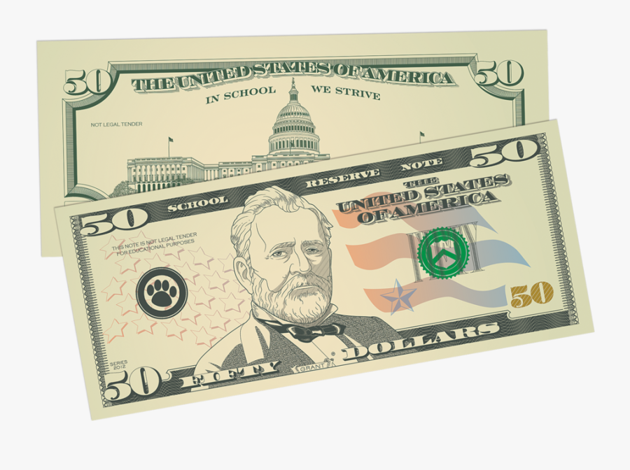 50 Dollar Bill - Play Money Dollar Bill, Transparent Clipart