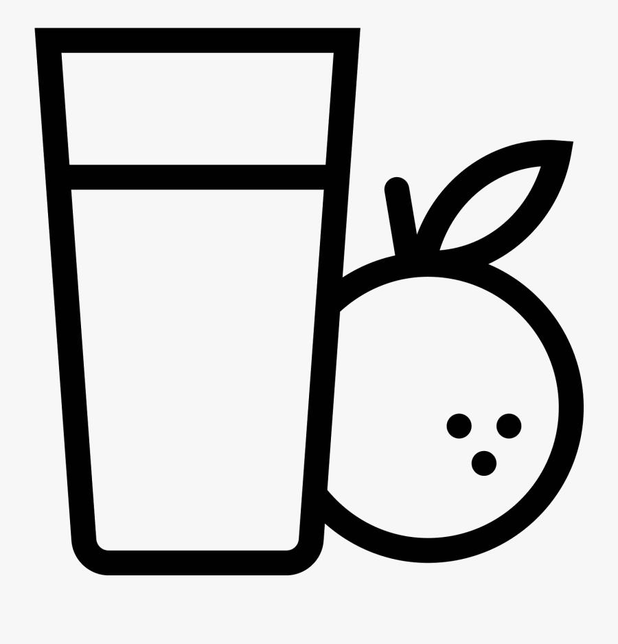 Orange Juice Drawing At - Fruit Juice Icon Png, Transparent Clipart
