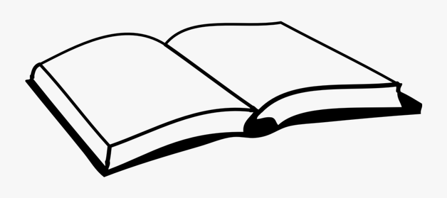 Transparent School Owl Clipart Black And White - Open Book Clip Art, Transparent Clipart
