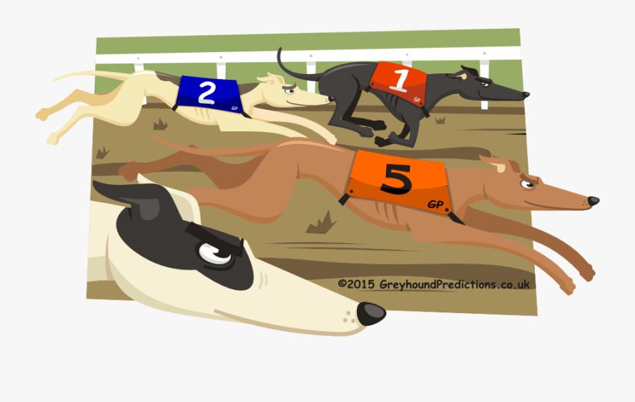 Pensacola Grayhound Track Logo - Greyhound Dogs On Cartoon, Transparent Clipart
