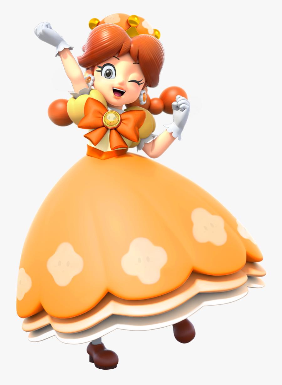 New Super Mario Bros Wii U Toad Princess Peach Orange - New Super Mario Bros U Deluxe Peach, Transparent Clipart