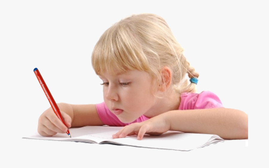 Transparent Child Writing Clipart - Child Writing Png, Transparent Clipart