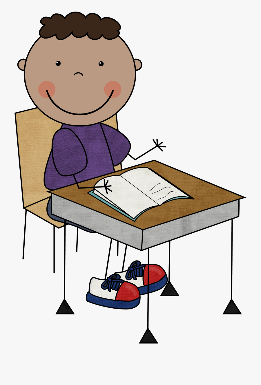 Child Writing Clipart - Whole Body Listening Clipart, Transparent Clipart