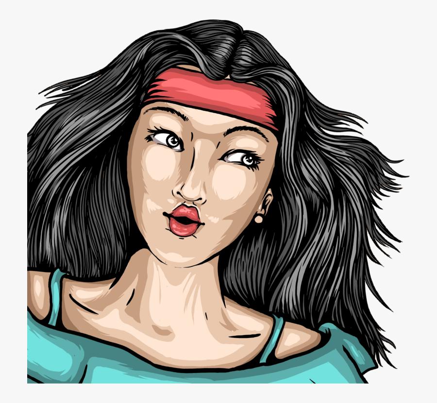 Hairstyle,art,black Hair - Super Happy Fun America, Transparent Clipart