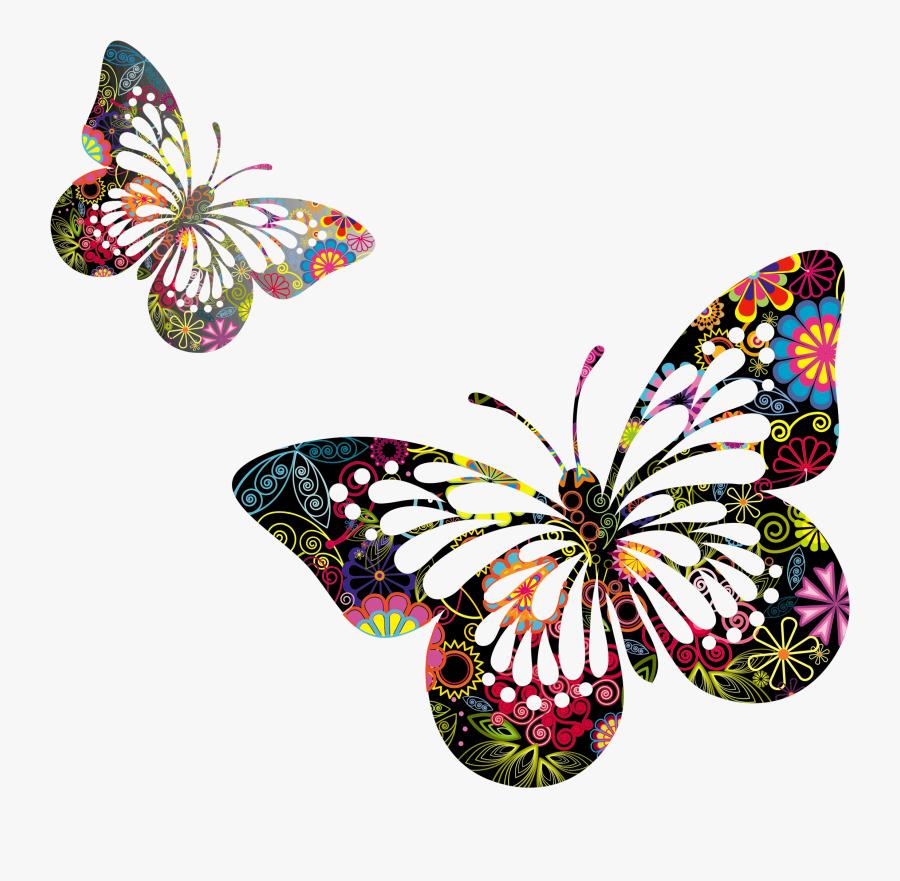 Clipart Flowers And Butterflies, Transparent Clipart